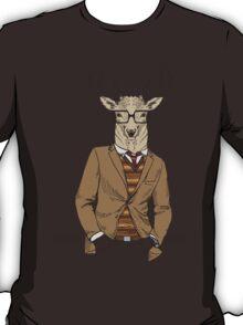 Fashion Animals - Stag Chic  | artwork by Olga Angelloz T-Shirt