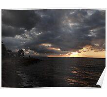 clouds of an indian summer's evening -  nubes de una nochecita de un veranillo de san miguel Poster