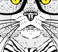 Fashion Animals - Valerie Kon Kitten | artwork by Olga Angelloz Sticker