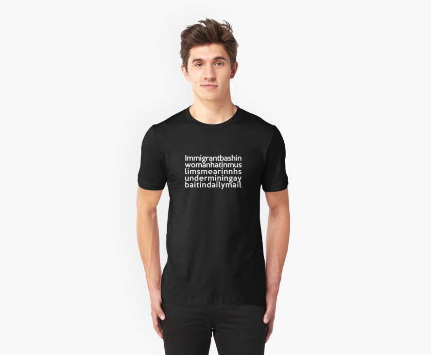 Pepsi-inspired t-shirt, with quote courtesy of Mehdi Hasan on BBC Question Time by unloveablesteve