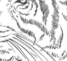 Fashion Animals - Tiger ron Do ron | artwork by Olga Angelloz Sticker