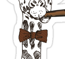 Fashion Animals - Giraffey Larry | artwork by Olga Angelloz Sticker