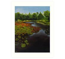 Tropical Lake Art Print
