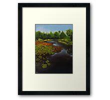 Tropical Lake Framed Print
