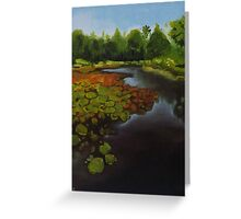 Tropical Lake Greeting Card