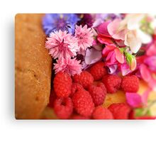 Home Baking & Summer Flowers Canvas Print