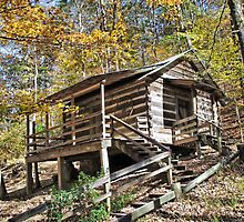 Log Cabin In The Hills by RickDavis