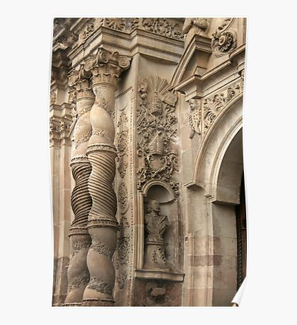 Baroque Pillars Poster