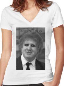 Punk Boris Johnson Women's Fitted V-Neck T-Shirt