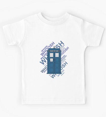 Tardis Whoosh sound Doctor Who Kids Tee