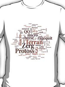 Starcraft Wordcloud - coffee T-Shirt