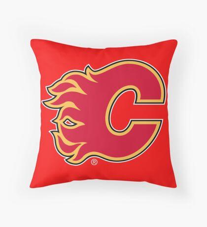 calgary flames Throw Pillow
