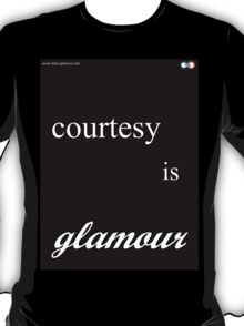 courtesy is absolutely glamour BLACK T-Shirt