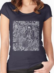 Silk Road Buddha III Women's Fitted Scoop T-Shirt