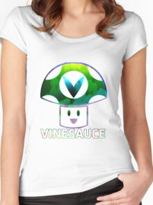 Vinesauce Glitch [UNOFFICIAL] Women's Fitted Scoop T-Shirt