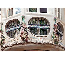 Artistic windows in Palma de Mallorca - Spain Photographic Print