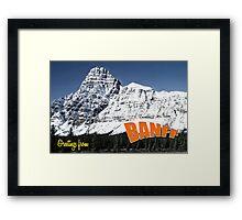 Banff national park Alberta Framed Print