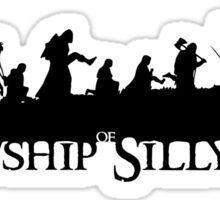 The Fellowship of Silly Walks Sticker