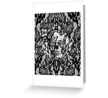 Butterfly lace skull pattern.  Greeting Card