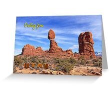 Greeting from Utah Greeting Card