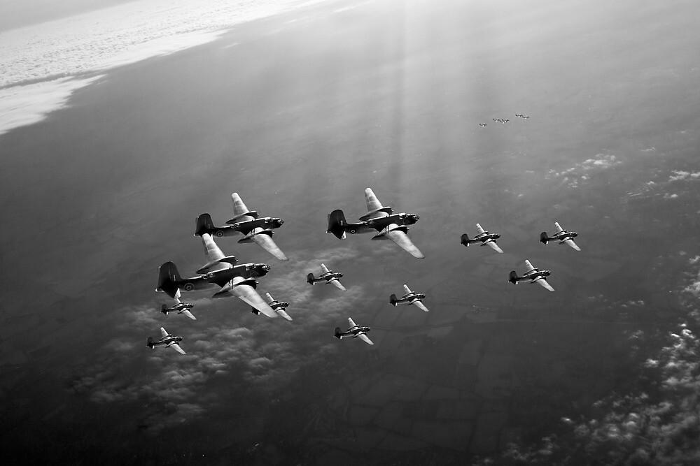 Boston raiders black and white version by Gary Eason + Flight Artworks