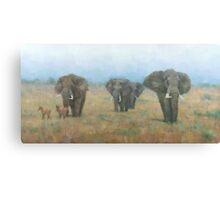 Kenyan Elephants Canvas Print