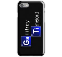 Elements of Time Travel iPhone Case/Skin