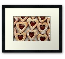 biscuits hearts with jam Framed Print