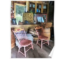 Americana - Two Pink Chairs in General Store Poster