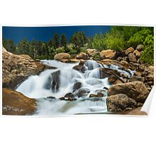 Flowing Water Fall Poster