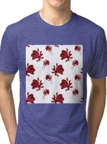 seamless pattern with red poppy Tri-blend T-Shirt