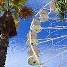 Ferris wheel and palm trees by 7horses