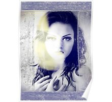 6516 Orchid Goddess and lace Poster