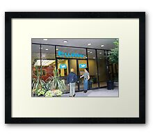 Every time I head back to the office, I just can't shake the feeling that I'm being followed. Framed Print