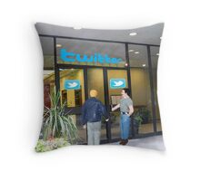 Every time I head back to the office, I just can't shake the feeling that I'm being followed. Throw Pillow