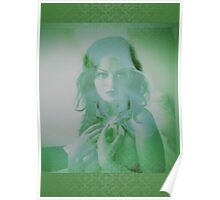 6518g Orchid Goddess and lace Poster