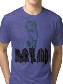 FISH MARYLAND VINTAGE LOGO Tri-blend T-Shirt