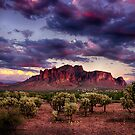 Sunset at the Superstitions by Saija  Lehtonen