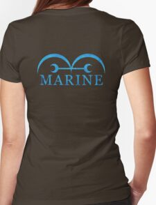 One Piece Marine Logo Womens Fitted T-Shirt