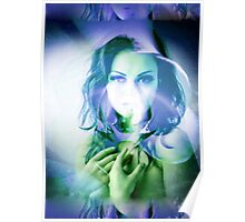 6520py Orchid Goddess Poster