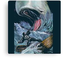 in the heart of the sea Mobydick VS Frank Castle ilustration Canvas Print
