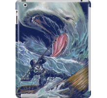 in the heart of the sea Mobydick VS Frank Castle ilustration iPad Case/Skin