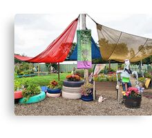 Fun in the Garden Canvas Print