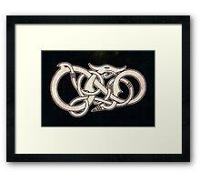 Viking Dragon in white Framed Print