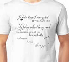 Mr. Darcy Quote Unisex T-Shirt