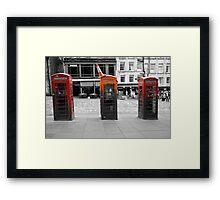 Telephone Trio Framed Print