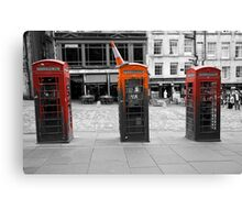 Telephone Trio Canvas Print