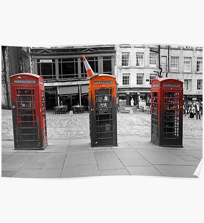 Telephone Trio Poster