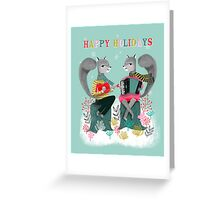 Squirrels' Christmas by Andrea Lauren  Greeting Card