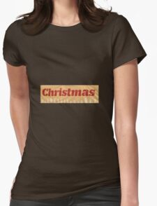 Christmas Red Womens Fitted T-Shirt